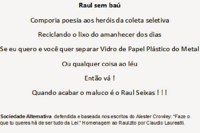 Raul Seixas, nosso Raulzito / AGOSTO / 25 anos