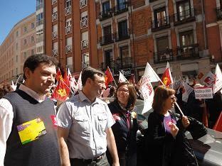 Manifestación IU en Madrid, 20 de marzo de 2011