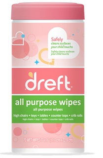 dreft Gentle Clean Multi-Surface wipes