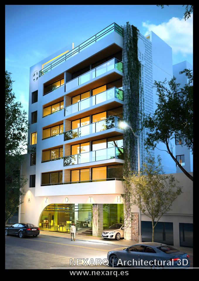 Renders arquitectura 3d animaci n y video nexarq 3d for Exterior edificios