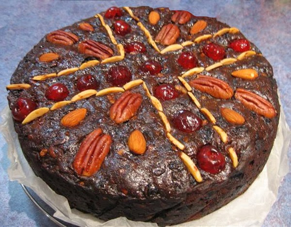 Rich Port and Chocolate Christmas Cake: A classic rich fruited Christmas cake that also contains an extra indulgence of adding both chocolate and port wine to the cake batter