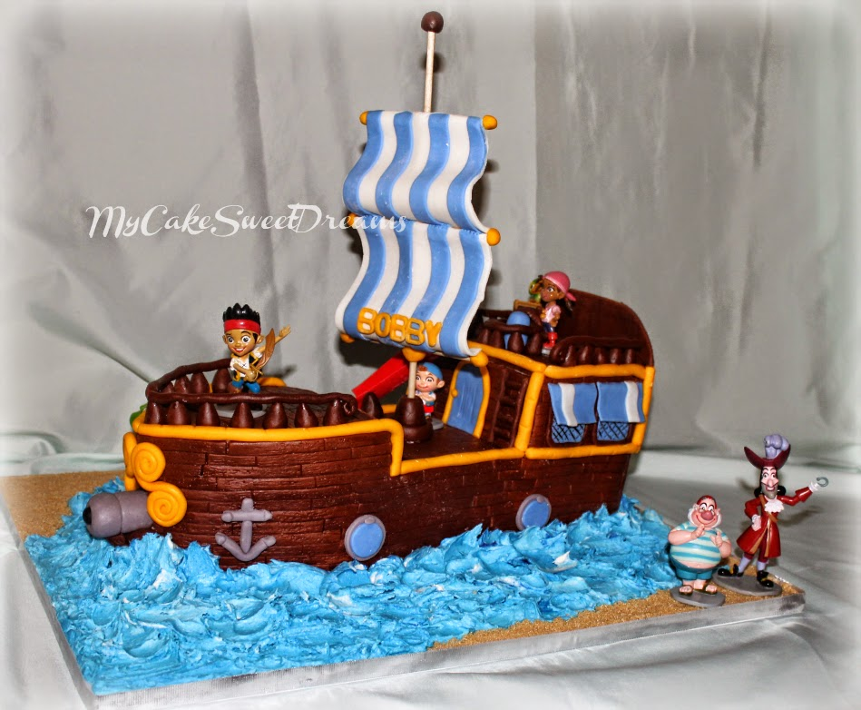 My Cake Sweet Dreams: Jake and The Neverland pirate ship cake