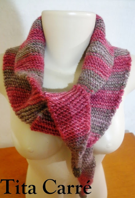  Cachecol xale em tricot Baktus