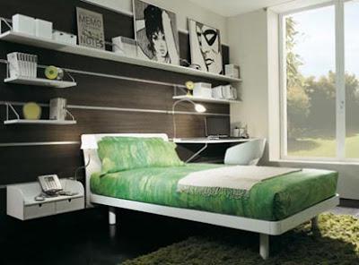 Girls Bedroom Design in Green