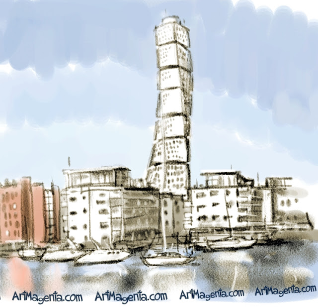 Turning Torso is a sketch by urban sketcher Artmagenta