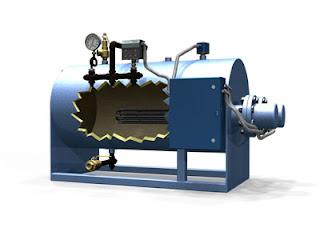 Electric boiler cutaway view