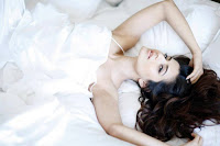 Glorious, beauty, AMEESHA, PATEL, photo, shoot, Laying, on, bed