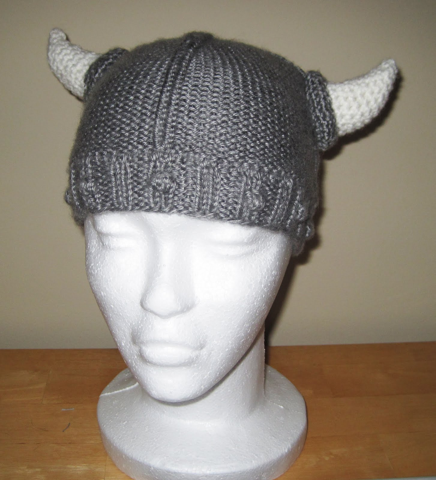 Viking Patterns For Knitting : Probably Not Martha: The Viking Helmet: Crochet Pattern to Knit Pattern