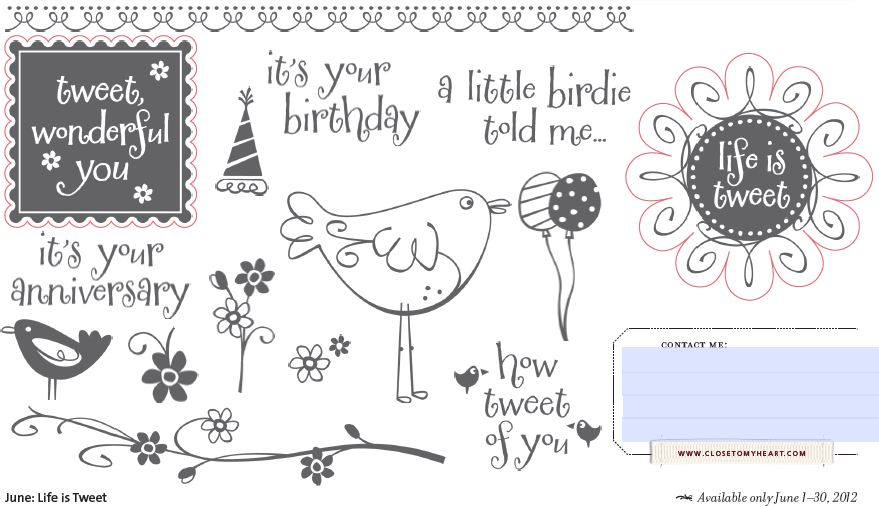 Scrapbooking Kampstyle Junes Close To My Heart Stamp Of The Month
