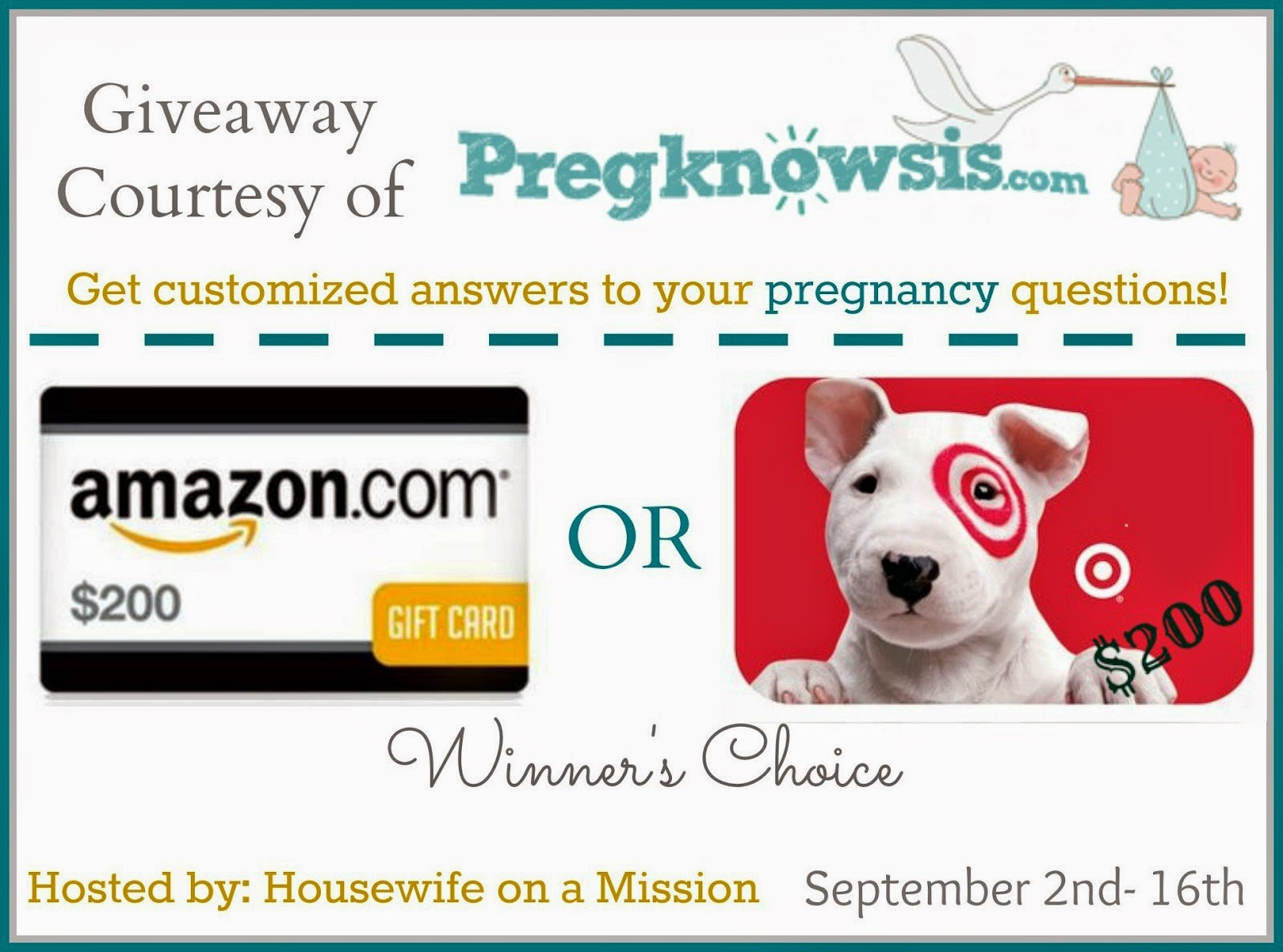 $100 Amazon or Target Gift Card Giveaway