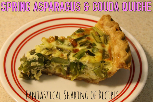 Spring Asparagus & Gouda Quiche | A great springtime breakfast #recipe