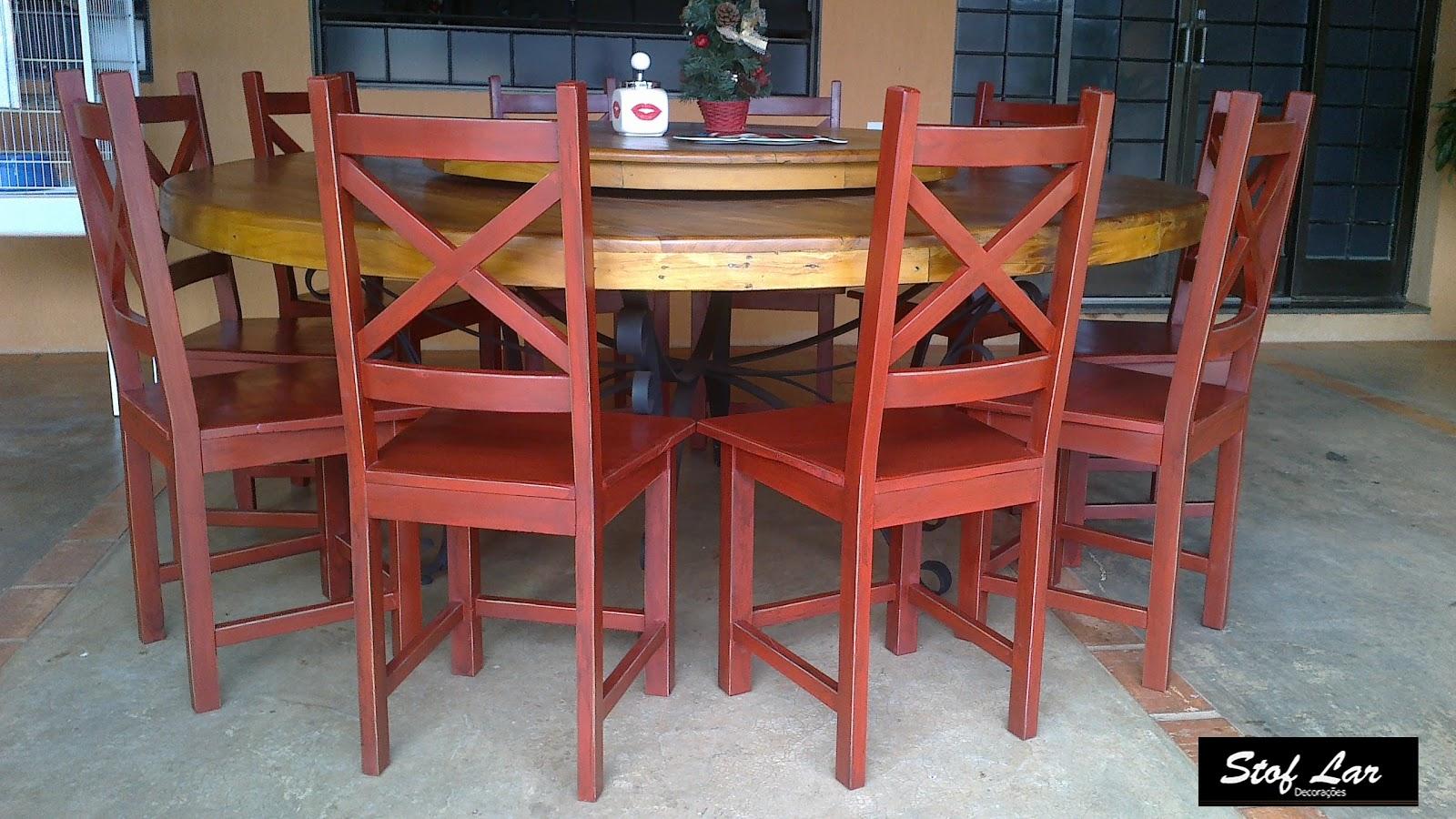 Madeira de Demolição : Mesa Redonda (pé de ferro)   10 cadeiras #A77224 1600x900