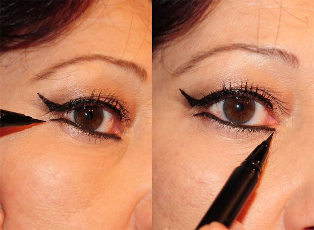Eyeliner-Hilfslinie