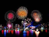 Christmas widget 2011 fireworks