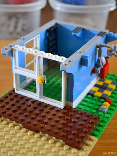 lego beach house - lots of big windows
