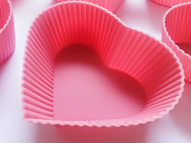 Silicon Heart Shaped Cupcake Case