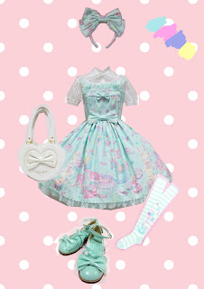 angelic pretty toy parade coord lolita fashion