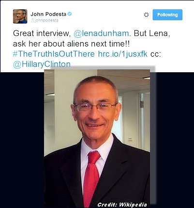Hillary's Campaign Chairman Encourages (Space) Alien Inquiry