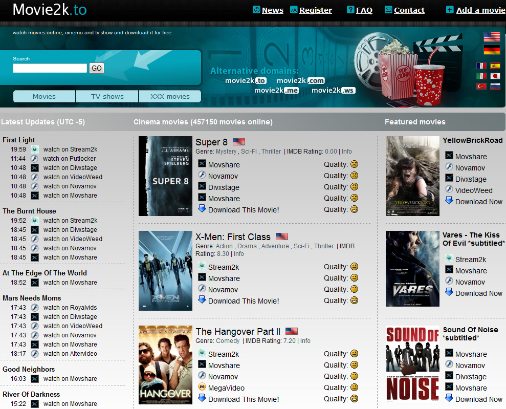 Movie2k.to: Nächstes Streaming-Portal ist offline