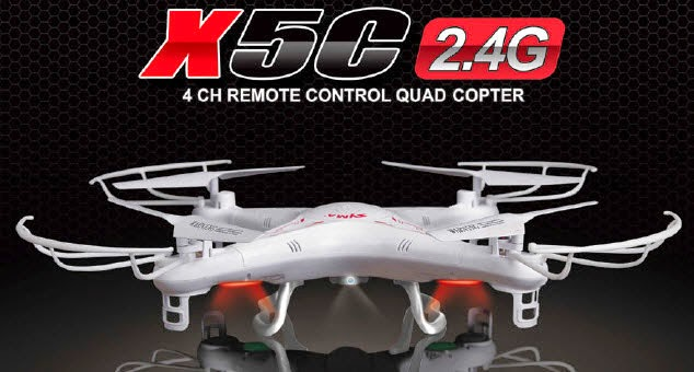 SYMA X5C QUADCOPTER WITH HD CAMERA