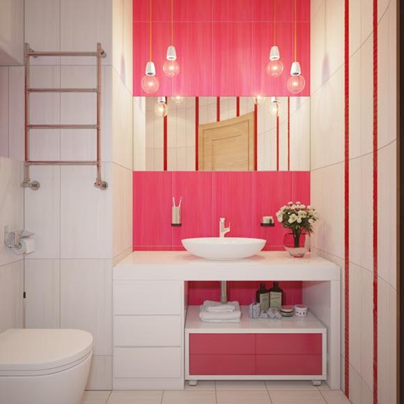 Duas decorações para o banheiro da sua casa  Morando Sozinha -> Banheiro Rosa Simples