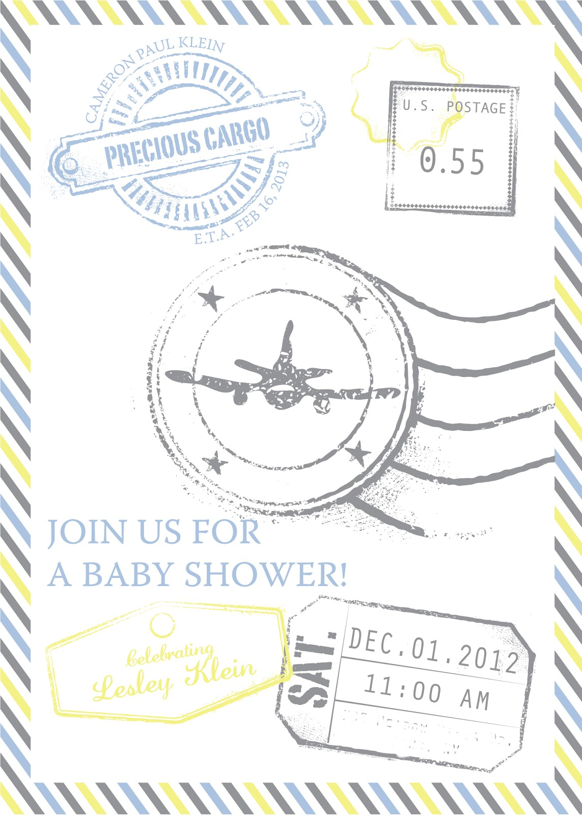 Airplane Invitations with perfect invitations template
