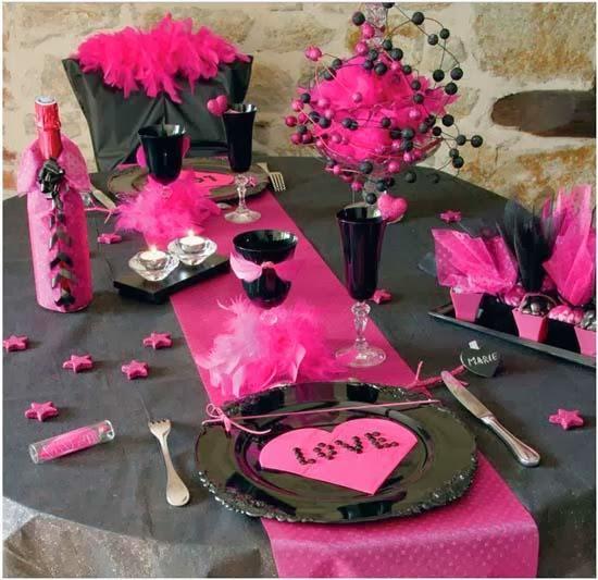 Decoracion de Mesas para San Valentin, parte 2