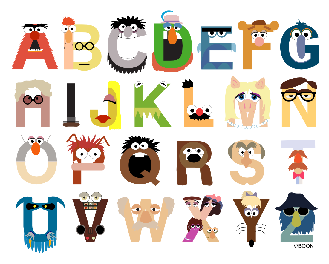 Mike baboon design ladies and gentlemen it 39 s the muppet alphabet - Les classiques du design ...