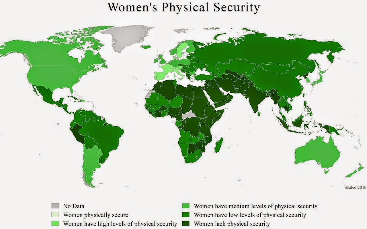 women-physical-security-world-map