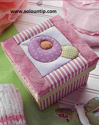Cajas decoradas con tela - Como decorar cajas de madera paso a paso ...