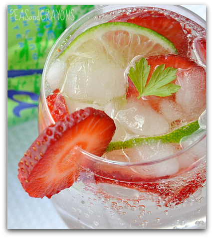 lightened up la croix strawberry lime vodka spritzer cocktail