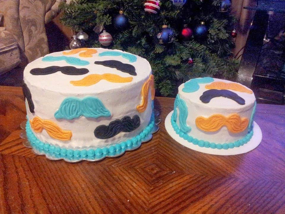 Tricias Sweet Treats First Cake Sale And Second One Mustache