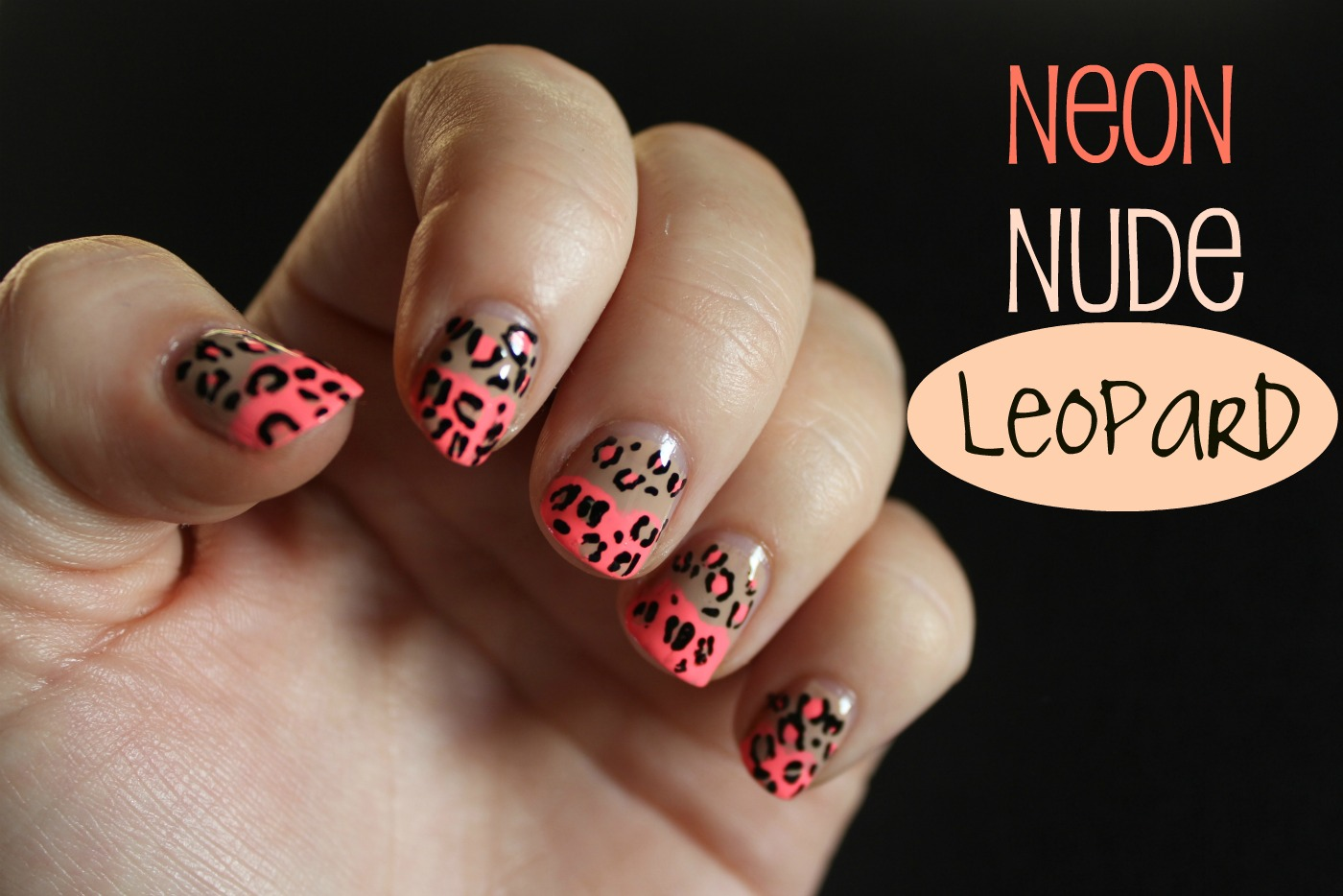 Cherrysue Doin The Do Neon Nude Leopard Nails With A Simple How To