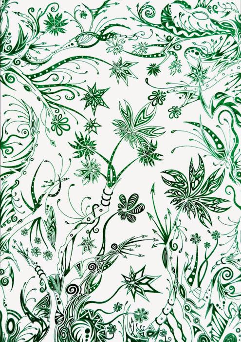 Série - Jungles colorées Deuxi%C3%A8me+jungle+verte+3