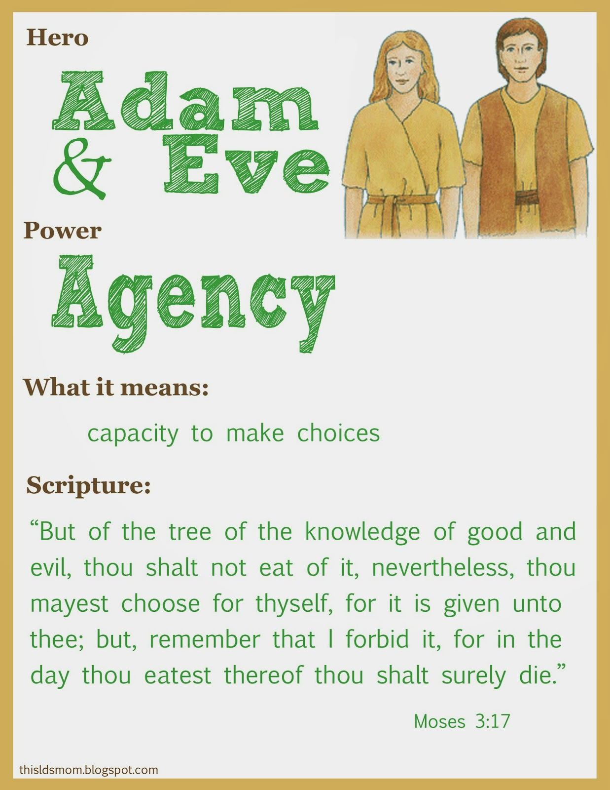 this lds mom scripture heroes adam and eve