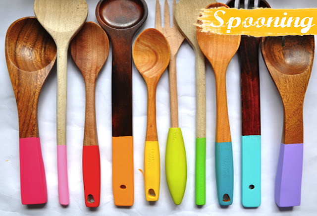 Hand dipped wooden spoons