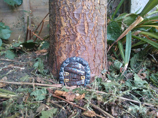 The Fairy Door at the bottom of the Pear Tree