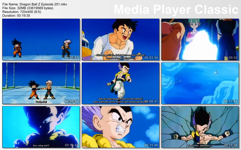 Download Film / Anime Dragon Ball Z Majin Buu Saga Episode 251 Bahasa