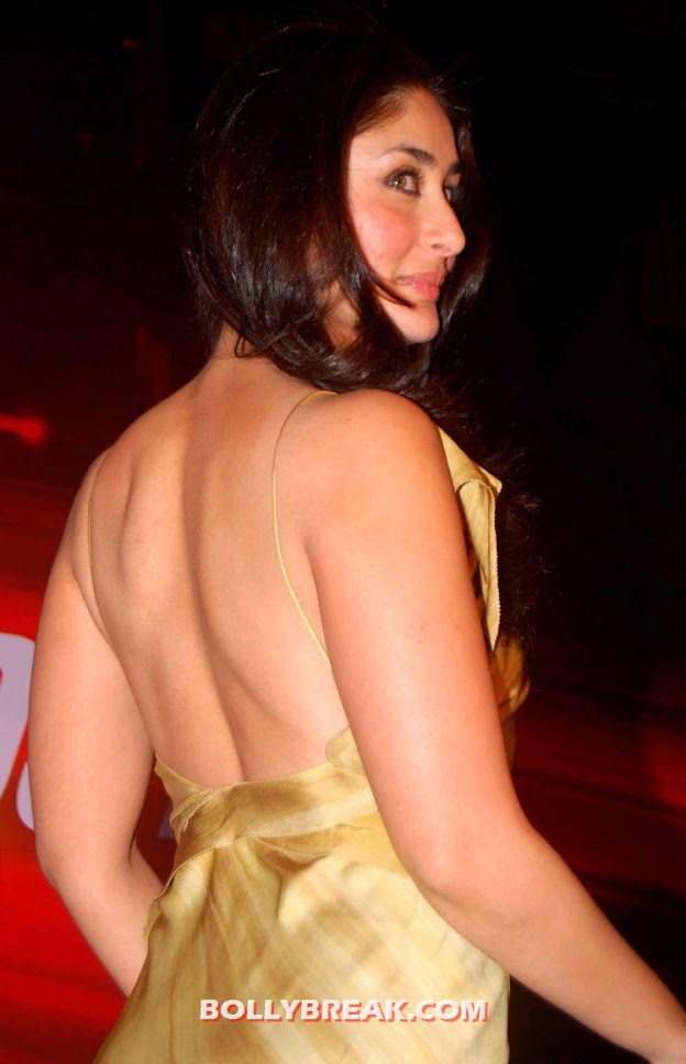 Kareena shows off hot back -  Kareena kapoor hot outfits
