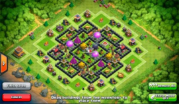 Design Farming Base Clash of Clans TH 8