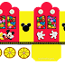 Mickey in Yellow and Red: Princess Carriage Shaped Free Printable Boxes.