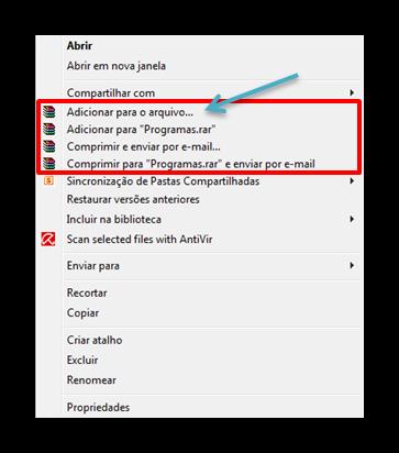 Como dividir arquivos com o WinRAR