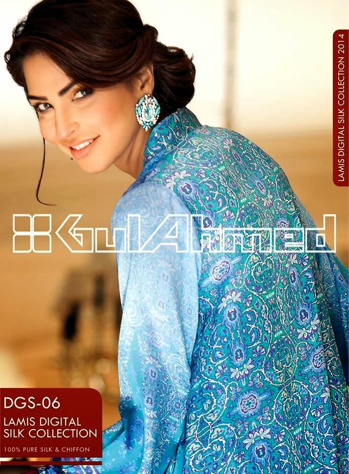 GulAhmedLamisDigitalSilkCollection2014 wwwfashionhuntworldblogspotcom 06 - Gul Ahmed Lamis Digital Silk Collection 2014