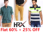 Myntra: Flat 60% OFF on HRX Men Apparels + Extra 25% OFF on New Registrations