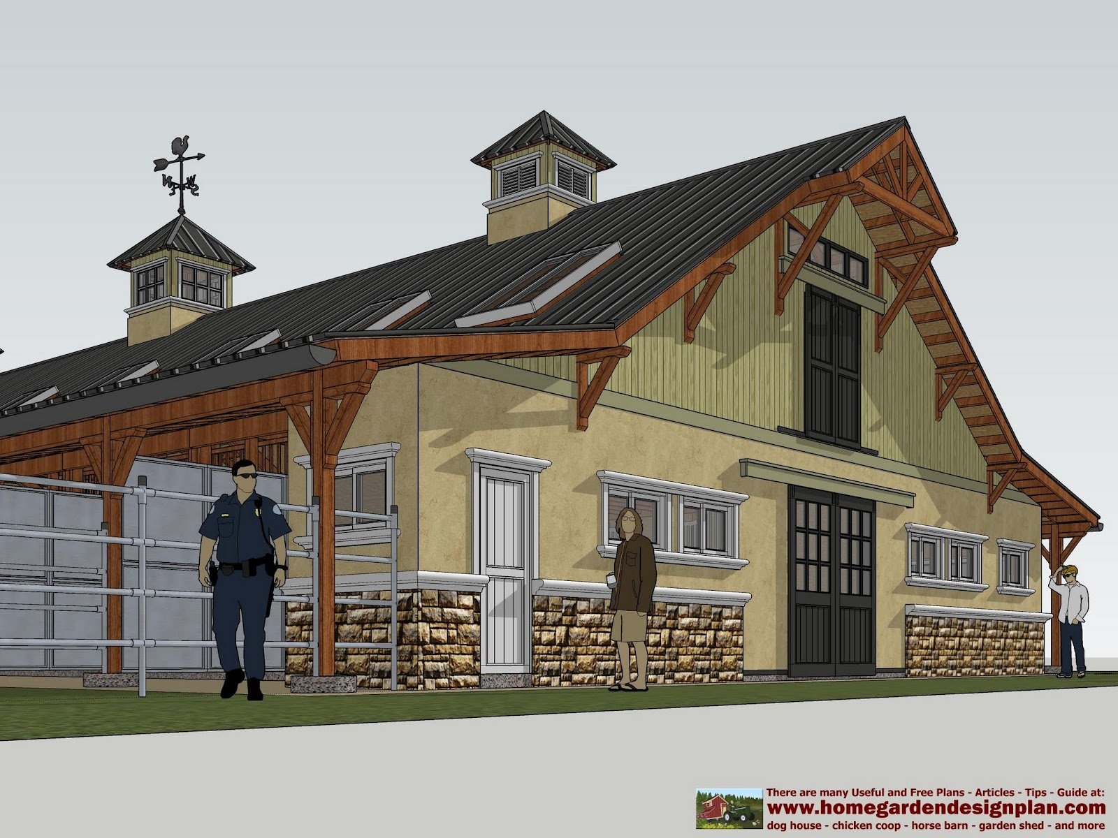 Pin horse barn plans free on pinterest for Horse barn prices and plans
