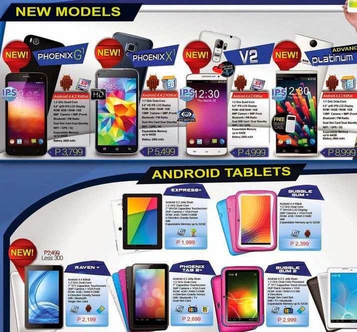 Spectrum Price List Phones/tablets Price List