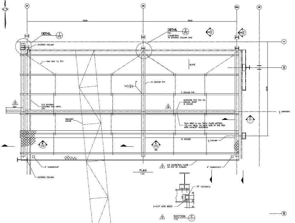 Steel Construction-Roof Section & Details