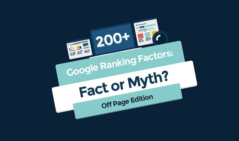 Google's Off Page Ranking Factors: Are They Fact Or Myth? - #infographic #SEO