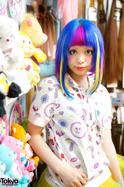 colorful kawaii hair