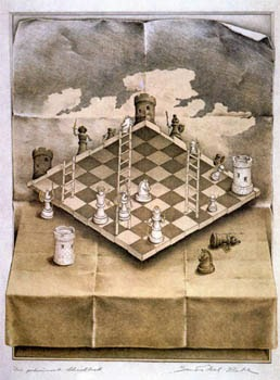 escher ajedrez
